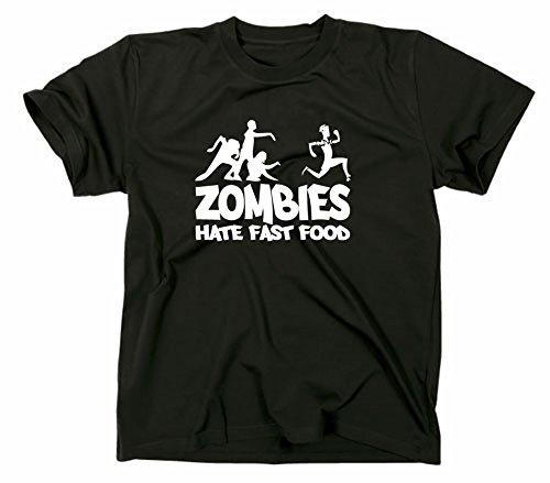 Zombies hate Fast Food Fun T-Shirt, zombie, horror, Schwarz, XXL