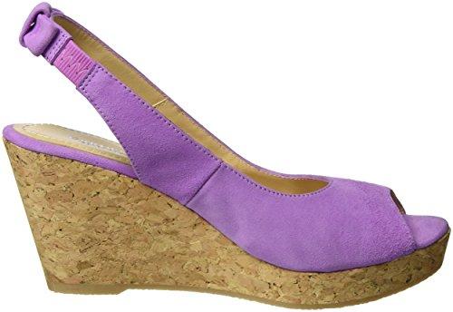 GARDENIA COPENHAGEN Damen Sandal Wedge Slingback Violett (suede Lillac)