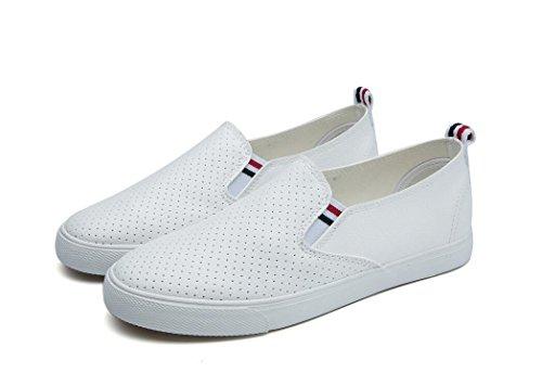 Sapatos De Senhora Shfang Simples Pu Aumento Lazer Movimento Estudando Compra Da Escola Dia Preto Branco