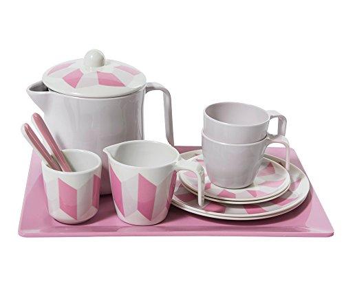 Preisvergleich Produktbild 13-teiliges Tee-Set aus 100% Melamin