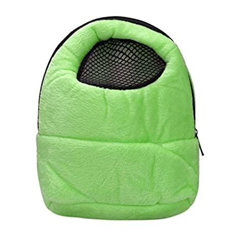 hunpta Hamster Rat Hedgehog Chinchilla Ferret Carrier Packet Bag Sleeping Hanging Bag (Green)