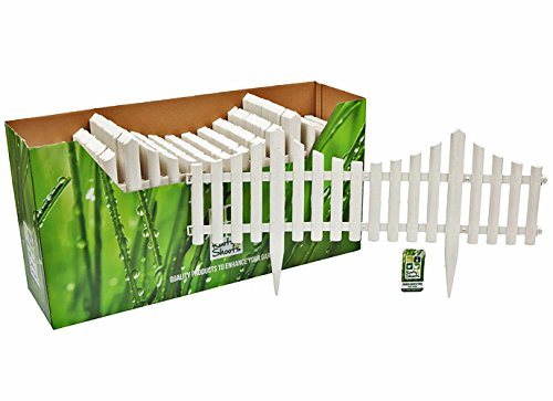 Flexible Plastic Garden Border Fence Lawn Grass Edge Path Edging Picket  Flower. (8 Section 4.8 Metre, White Picket)   Buy Online In KSA. Outdoors  Products ...