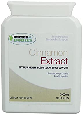 Better Bodies 2000 mg Cinnamon Extract Diet and Weight Control - Pack of 90 Tablets from Bionutricals