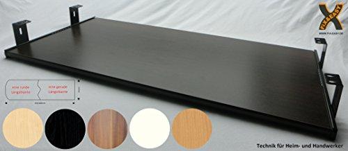 Kirsche Ahorn Schrank (FIX&EASY TASTATURAUSZUG MIT TASTATURABLAGE 800X300MM WENGE DEKOR, AUSZUGSCHIENEN SCHWARZ 300 MM, SCHREIBTISCHAUSZUG SET MIT TABLARABLAGE FÜR KEYBOARD UND MAUS ODER FLACHBETTSCANNER)