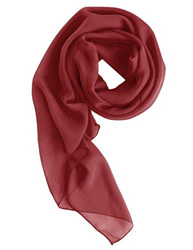 Dresstells Chiffon Schal Stola für Abendkleider in Verschiedenen Farben Burgundy 190cmX70cm/ Medium