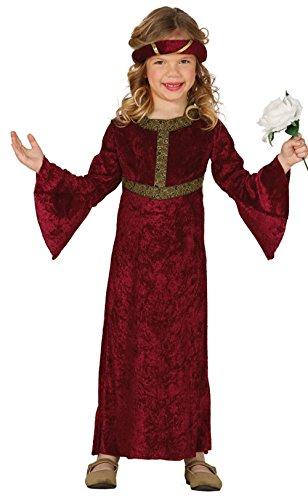 (Burgfräulein - Kostüm für Mädchen Gr. 98 - 146, Größe:128/134)
