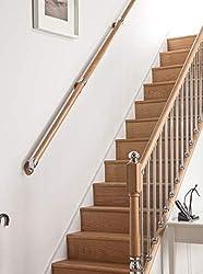 AXXYS Wall Handrail Kit 4mts - Rail in Box Set Oak and Chrome Stair Rail