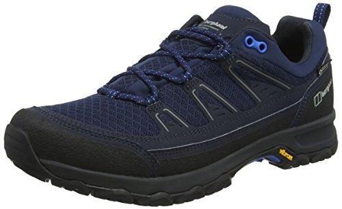 Berghaus Explorer Active Gore-Tex Walking Shoes, Chaussures de Randonnée Basses Homme, Blue (Dusk/Blue Bk1), 40.5 EU
