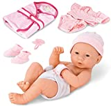 Liberty Imports Newborn Baby Girl Doll with Clothes and Accessories | Realistic Toy