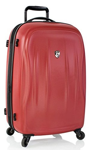 ... 50% SALE ... PREMIUM DESIGNER Hartschalen Koffer - Heys Crown SuperLite Rot - Trolley mit 4 Rollen Gross Rot