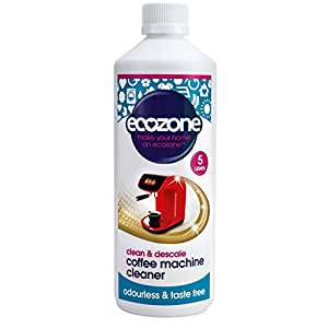 Ecozone Coffee Machine Cleaner and Descaler 500 ml - 5 Applications per bottle