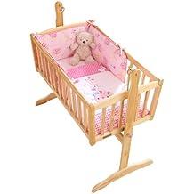 Clair de Lune Pink Lottie & Squeek Crib/Cradle Quilt & Bumper Bedding Set