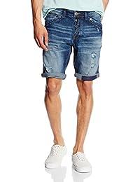 TOM TAILOR Denim Short Josh, Jeans Homme, Bleu (Mid Stone Wash Denim 1052), W31 (Taille Fabricant: W31)