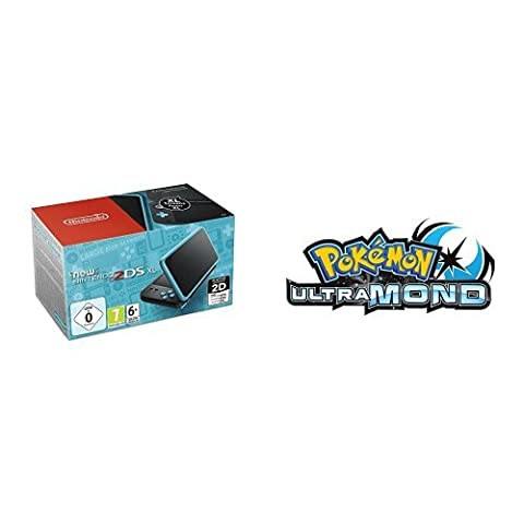 New Nintendo 2DS XL (Schwarz & Türkis) + Pokémon Ultramond