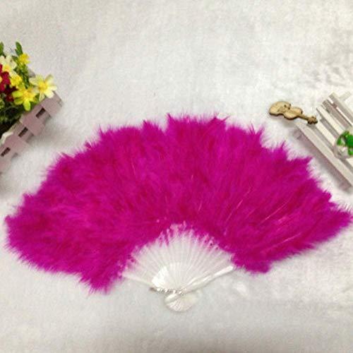 Federfächer, Kostüm Federfächer Hochzeit Showgirl Elegant Tanz - rosa, Free Size
