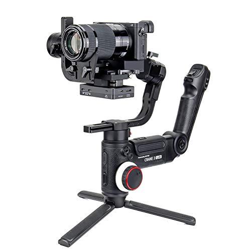 Zhiyun Crane 3 Lab-Handheld-Gimbal-DSLR-Kamera-Stabilisator für Sony A9 A7Rii Canon 6D 5D, Nikon D850 von Panasonic GH4 GH5 mit vielseitiger Struktur, ViaTouch-Steuerung und 4,6 kg Max. Zuladung