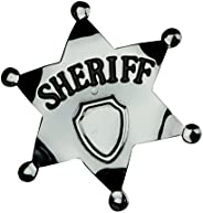 Smiffy's Sheriff Star Badge, Silver, 65 mm, 9