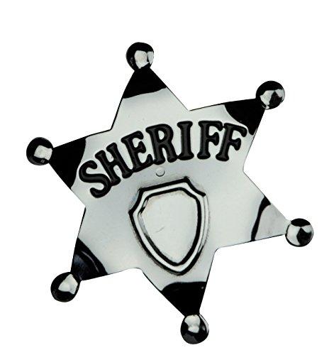 Smiffys - Sheriffstern Metall Sheriff Stern Kostüm