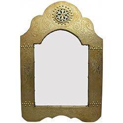 Saharashop Marrakech Accessoires–Espejo Oro (pequeño) 60x 40cm