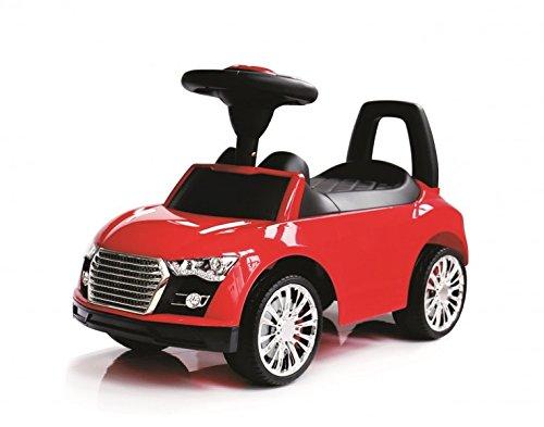 Coemo Rutschauto Rutscher Babyauto Lauflernhilfe mit Hupe 3 Farben klappbarer Sitz