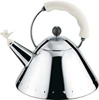 Alessi 9093 Kettle in Stainless Steel with White Handle