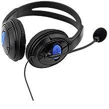 سماعة راس سلكية للدردشة والالعاب لجهاز سوني بلاي ستيشن 4، لون اسود