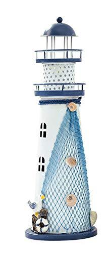 Leuchttürme Home Decor (Mediterranen Stil Holz Leuchttürme Nautisch Themenzimmer Leuchtturm Home Decor Nachtlicht Dekor, C)