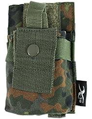 BE-X Modulare Funkgeräte / GPS Tasche mit verstellbarer Sicherung - flecktarn