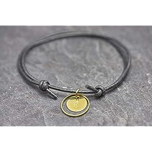 Armband Circle Gravur schwarz Freundschaftsamband personalisiert…