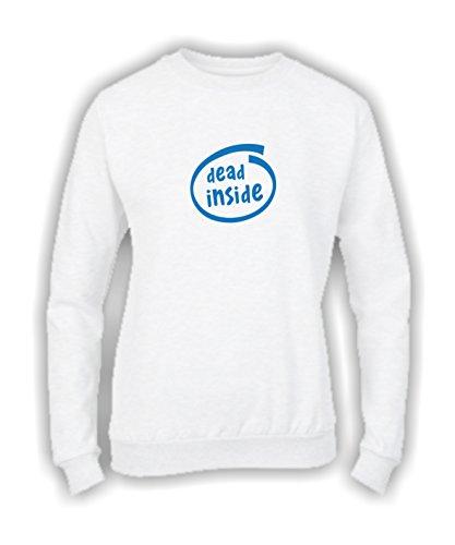 Social Crazy - Sweat-shirt - Femme Noir Noir  S Bianco