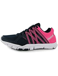 d341766ca3691b Reebok YourFlex Trainers Womens Navy Pink Sneakers Sports Shoes Footwear