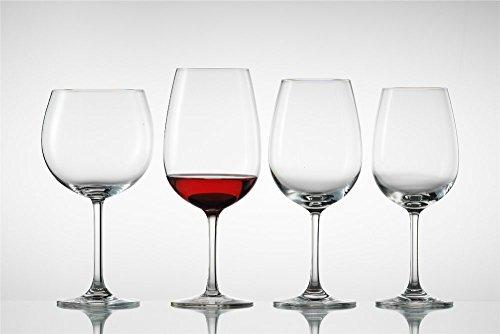Stölzle Lausitz Bordeaux Rotweingläser Weinland 540ml, 6er Set Weinglas, hochwertige Qualität, spülmaschinenfestes Bordeauxgläser, große Rotweinkelche - 6