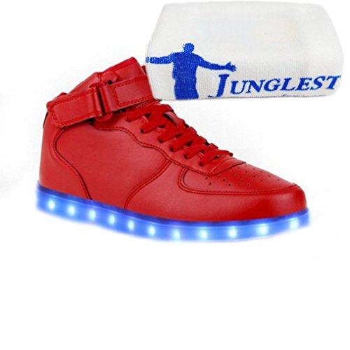 [Présents:petite serviette]JUNGLEST® - Baskets Lumine High-Top de Velcro Rouge