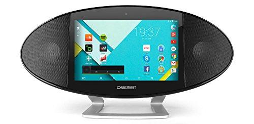 Orbsmart Soundpad 500 17,8 cm (7 Zoll) Android 5.1 Internetradio / Webradio / Digitalradio (Quadcore CPU, 1024x600 Display, HDMI output, WLAN-n, Bluetooth, 3200 mAh Akku, Stereo Lautsprecher)
