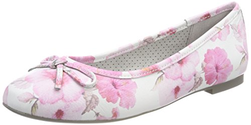 Be Natural Damen 22141 Geschlossene Ballerinas, Pink (Rose Flower), 38 EU