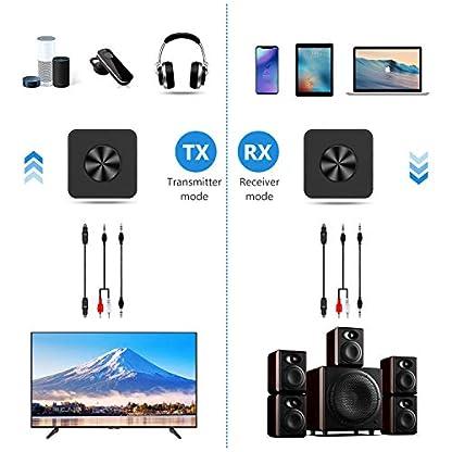 Yuanguo-Bluetooth-Adapter-Audio-Bluetooth-Empfnger-und-Transmitter-fr-Auto-und-Zuhause-Bluetooth-50-mit-Digital-Optischem-Toslink-und-35mm-Aux-apt-X-HDLL-Zwei-Verbindung-fr-TV-PC