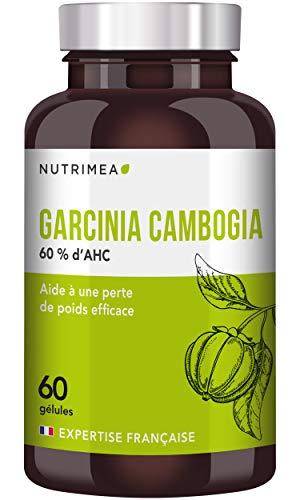GARCINIA CAMBOGIA pur • Coupe-faim et brûle graisse naturel • 60% d'AHC • 60 gélules de 500 mg VEGAN • Complément idéal régime • Fabrication Française