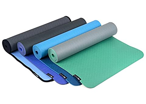 YOGISTAR Yogamatte pro light, violett-hellgrau (3mm)