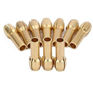 Dophee 10pcs Kupfer Spannzangen Schraubenmutter Bohrfutter für 3,2mm Dremel Haltbar Elektrobohrer Drehwerkzeug Präzisionswerkzeuge
