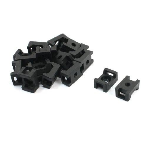 Water & Wood 5.5mm Width Cable Tie Base Saddle Type Mount Wire Holder 20 Pcs