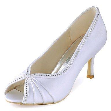 RTRY Donna Scarpe Matrimonio Della Pompa Base Raso Elasticizzato Primavera Estate Party Di Nozze &Amp; Sera Crystal Stiletto Heel White 3A-3 3/4In Bianco Us8.5 / Eu39 / Uk6.5 / Cn40 US6.5-7 / EU37 / UK4.5-5 / CN37