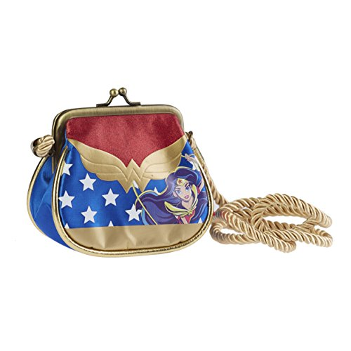 Karactermania DC Super Hero Girls Wonder Women Bolso Bandolera, 11 cm, Azul