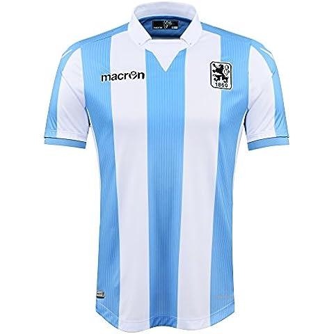 TSV 1860München ® ufficiale Original Macron maglia · Unisex Authentic Fan maglia Home 2016/17, blu chiaro-bianco, XXXXXL