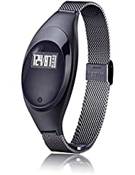 Zimingu Smart Armbanduhr Frau Stilvoll Fitness Armband Fitness Tracker IP67 Wasserdicht Smart Watch für Android und IOS ( Schrittzähler Gesundheits-Schlaf-Monitor Herzfrequenz-Monitor mit Call / SMS Erinnerung)