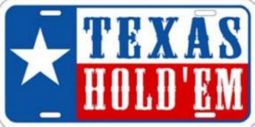 LP-1262 Texas Hold Em Poker License Plate Schlagw-rter-X432