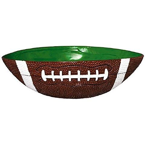 Amscan–Frenesí de fútbol fiesta de cumpleaños gran cuenco (1pieza), verde/marrón, 12,4x 10.2