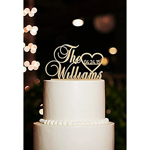 Wedding Cake Topper personalizzabile per torta, motivo:
