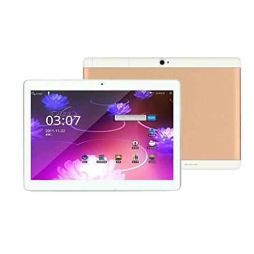 samLIKE 10,1 '' Tablet PC Mic WIFI Android 6,0 Octa Core 4 + 10,1 Zoll 2 SIM 4G HD (Gold)
