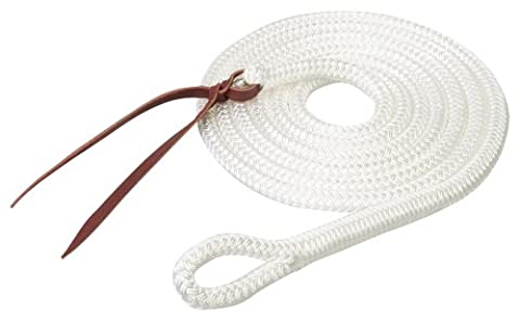 Weaver Leather Silvertip Yacht Braid Lead with Loop, White, 9/16-Inch