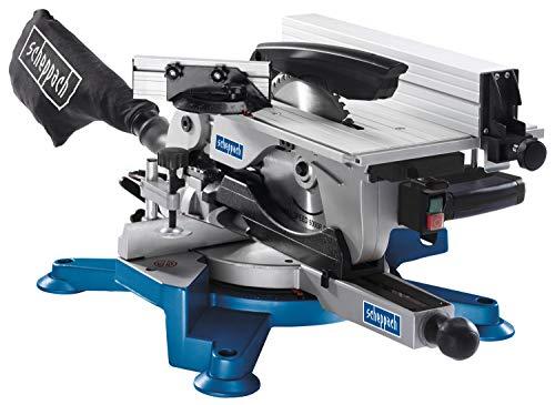 Scheppach Kappsäge HM100T (Tischkreissäge mit 1800 Watt, Sägeblatt-Ø254mm, Schnittbreite 110mm, Schnitthöhe 70mm, sägeblatt mit 60 Zähnen)